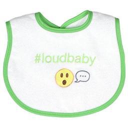 Raindrops 6485LO Loud Baby Hashtag Bib, Lime Green