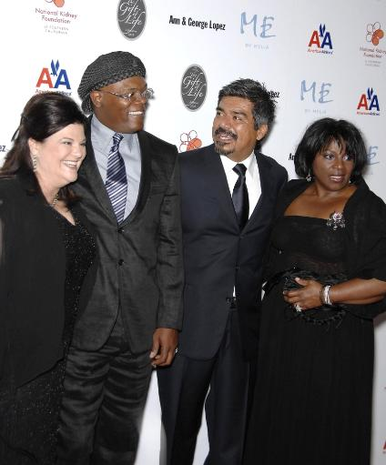 Anne Lopez, Samuel L. Jackson, George Lopez, La Tanya Richardson At Arrivals For 29Th Annual The Gift Of Life Gala, Century Plaza Hotel, Los.