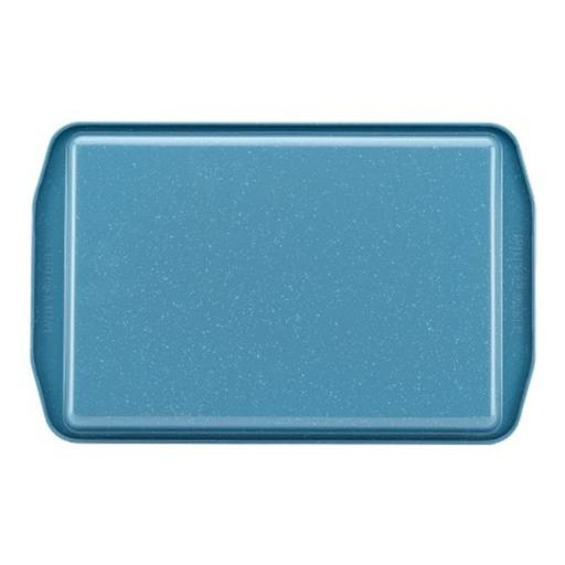 Paula Deen 46250 Speckle Nonstick Bakeware 11 x 17 in. Cookie Pan, Gulf Blue Speckle