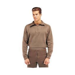 Black Polypropylene Thermal Underwear Shirt with Zipper 6242