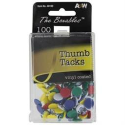 a-w-products-46109-a-w-products-46109-vinyl-coated-thumb-tacks-assorted-colors-100-count-w9tdn5jrjooanc64