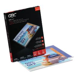 """Ezuse Thermal Laminating Pouches 10 Mil 9"""" X 11.5"""" Gloss Clear 50 Per Box   1 Box of: 50"""