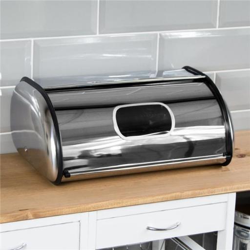 Nu Steel TG-BB-1W Bread Bin Roll Top with Window