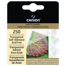 Canson/fila co 100510368 photo corners self adhesive transparent 250 pack