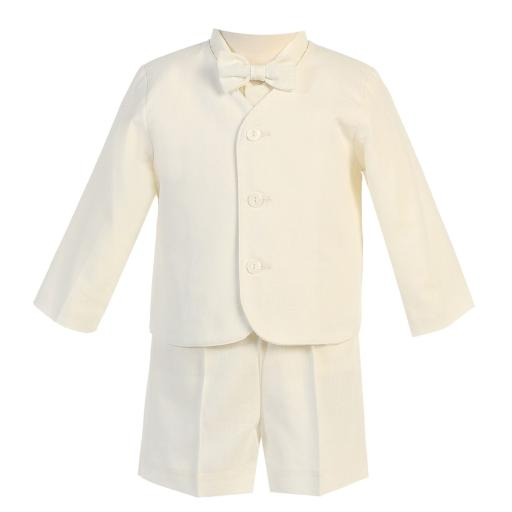 cf1ab0b2fe64 Lito Baby Boys Ivory Eton Short Formal Ring Bearer Easter Suit 6-24M. by  Lito Sold by Sophias Style Boutique