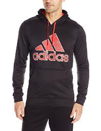 adidas Performance Men's Ultimate Fleece Pullover Hoodie-Illuminated Screen, Black/Light Onix 3X-Large