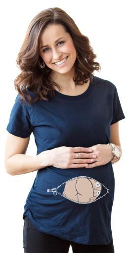 Maternity Baby Mooning Novelty Shirt Fun Cute Baby Bump Humor T shirts