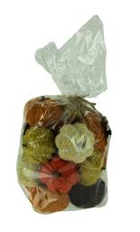Bag of Natural Assorted Color Dried Angel Vine Decorative Pumpkins