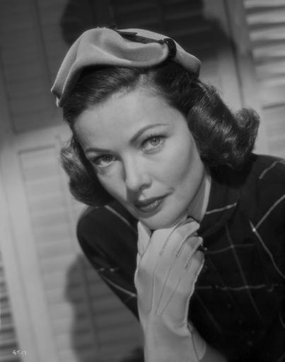 Gene Tierney Posed in White Gloves Photo Print