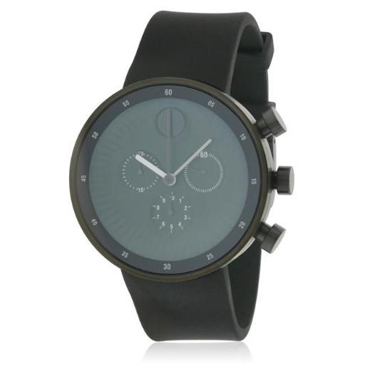 Movado 3680146 Movado Edge Silicone Chronograph Mens Watch, Black