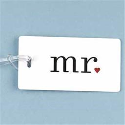 WMU 374791 4.25'' x 2.25'' Mr. Luggage Tag