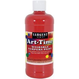 Washable Art-Time(R) Tempera Paint 16oz Red
