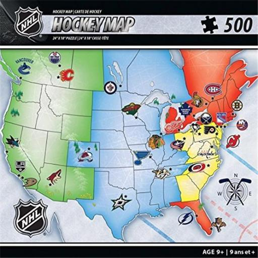 Masterpieces Puzzle MASHKYNHLM NHL Sports Map Puzzle DUYR6VTFPK1CLGSL