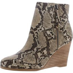 Steve Madden Womens Gryffin Faux Leather Round Toe Wedge Boots