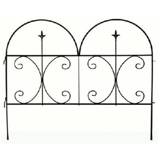 87406 Decorative Finial Fence Panel - Black