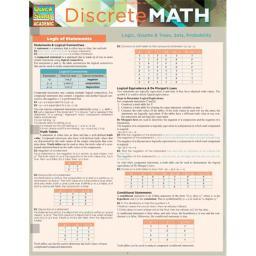 BarCharts 9781423224884 Discrete Mathematics Quickstudy Easel