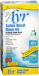 Ayr Saline Nasal Rinse Kit - 1 Bottle, 50 Refills, Pack Of 4