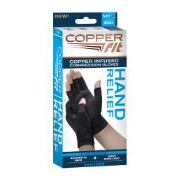 Copper Fit Compression Gloves Nylon/Spandex 1 pair - Case Of: 1;