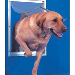 Ideal DDXLW Deluxe Dog Door Extra Large White 10.5 in. x 15 in.
