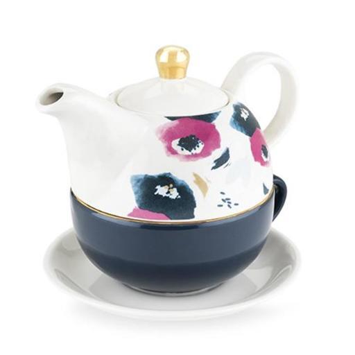 True 5063 12 oz Addison Floral Tea for One Set