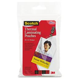 3M TP585210 ID badge size thermal laminating pouches, 5 mil, 4 1/4 x 2 1/5, 10/pack