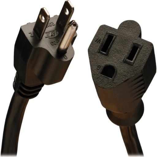 Tripp lite p024-001-13a 1ft power cord extension cable 5-15p to 5-15r 13a 16awg