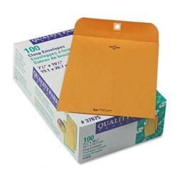 Quality Park 37875 Clasp Envelope  7 1/2 x 10 1/2  28lb  Light Brown  100/box
