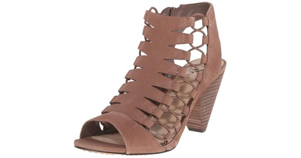 2c5582ed3f2 Vince Camuto Womens Eliaz Leather Peep Toe Casual Strappy Sandals