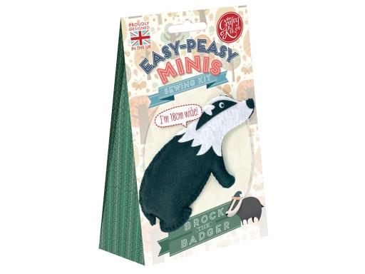 Cty2025 crafty kit co sewing kit mini brock the badger Crafty Kit Company Kits have everything you need for your project Sewing Mini Brock The Badger- An Easy Peasy mini felt sewing kit that s safe to use and perfect for little hands to have a go at sewing for the first time Contains pre-cut felt pieces wi