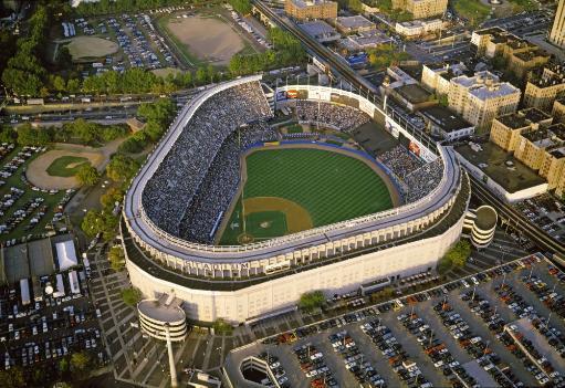 Aerial view of a baseball stadium, Yankee Stadium, New York City, New York State, USA Poster Print by Panoramic Images (36 x 24)