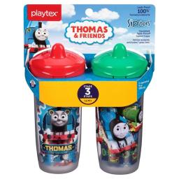 Edgewell Personal Care 55292477 Playtex Stage 3 Thomas Spout Sippy Cups, Pack of 2