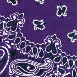 """Hav-a-hank Paisley Bandanna 22""""x22"""" Purple"""