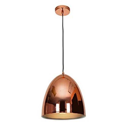 12 in. Essence 1 Light Shiny Copper Pendant Ceiling Light