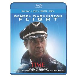 Flight (blu ray/dvd combo w/digital copy/ultraviolet/2discs)-nla BR170014