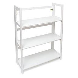Lipper 517w 3shelf folding bookcase white