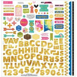 "Make Your Mark Cardstock Stickers 12""x12""-fundamentals W/gold Foil"