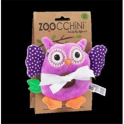 Zoocchini 41003 Baby Buddy Rattles with Owl, Purple, 4 x 6 in.