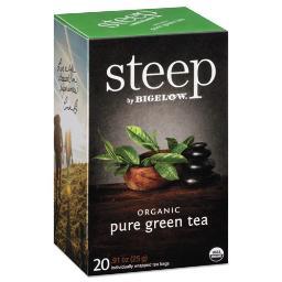 Steep Tea Pure Green 0.91 OZ Tea Bag 20 Per Box   1 Box of: 20