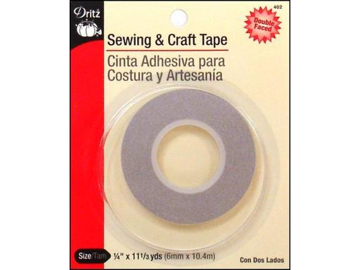 Dri402 dritz dbl-face sewing craft tape 1 4 x11 3yd Dritz Tape for sewing and crafting needs Double-Face Sewing Craft 1 4 x 11 3yd- A quick and easy way to temporarily baste hems and seams - eliminates pinning In a hurray and in need of a quick repair reach for this double-face tape Remove before laund