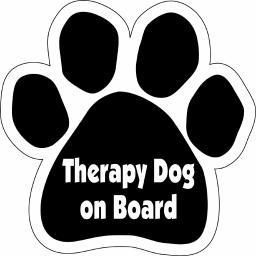 Therapy Dog on Board Paw Magnet Dog Cat 5.5