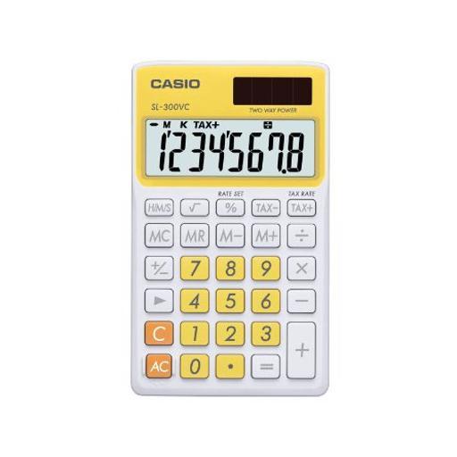 Casio sl-300vc portable calculator sl-300vc-yw