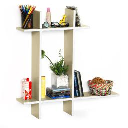 Brief & Elegance-B Leather Cross Type Shelve / Floating Shelve (4 pcs)