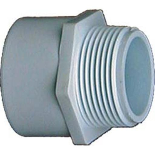Genova Products 1in. PVC Sch. 40 Male Adapters 30410 - Pack of 10