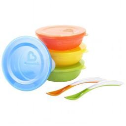 Munchkin 43877 4 Bowls & Lids 2 Spoons Love-A-Bowls Set