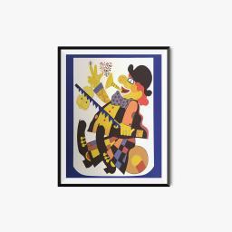 Creepy Clown Poster The Office Jim And Pam Halpert Painting Dunder Mifflin Gift
