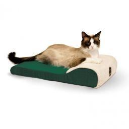 K&H Pet Products 7406 Green K&H Pet Products Ultra Memory Chaise Pet Lounger Green 14 X 22 X 4