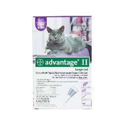 Advantage Purple-20-6 Advantage Flea Control For Cats And Kittens Over 9 Lbs 6 Month Supply