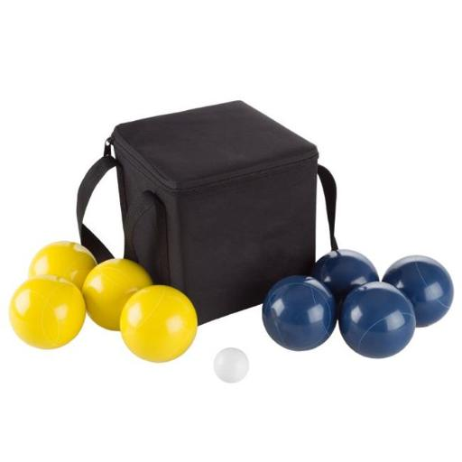 Hey Play M350090 Outdoor Family Bocce Game for Backyard, Lawn & Beach with Ball, Yellow & Blue