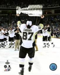 Sidney Crosby with the Stanley Cup Game 6 of the 2016 Stanley Cup Finals Sports Photo PFSAATC06101