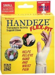 HandEze Flex-Fit Therapeutic Glove Small, Beige - Each